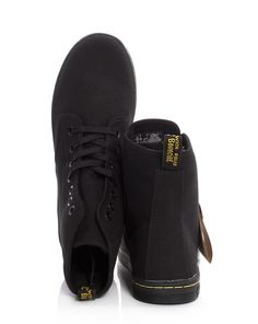 Martens Shoreditch Boot in Black Canvas - at Precious Peg Birkenstock Boston Clog, Black Canvas, Whats New, Dr. Martens, Winter Boots, All Black Sneakers, Clogs, Fashion, Clog Sandals