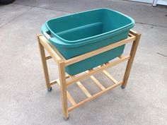 """""""I upgraded my wife's laundry cart from a rickety old PVC-pipe cart to this! The joinery is entirely Kreg pocket holes!"""" -Jesse S."""