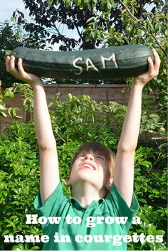 How to grow names in courgettes; a quick, easy and fun activity to try with children during the Summer.  Brilliant if you've got a glut too!