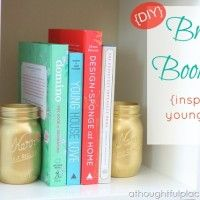 {DIY} Quick & Easy Brass Bookends