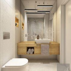 Bathroom 2 Sink and Storage Wc Bathroom, Concrete Bathroom, Bathroom Plans, Bathroom Toilets, Laundry In Bathroom, White Bathroom, Bathroom Renovations, Bathroom Interior, Bathroom Storage