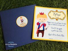Convite Festa Rei Artur | Design Festeiro