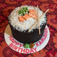 32 Best Photo of Sushi Birthday Cake . Sushi Birthday Cake Homemade Sushi Cake For My Daughters Birthday Food Sushi Torte, Sushi Cupcakes, Sushi Cake, Cupcake Cakes, 15th Birthday Cakes, Homemade Birthday Cakes, Homemade Cakes, 11th Birthday, Cool Birthday Cakes