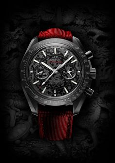 """Watch What-If: Omega Speedmaster Dark Side Of The Moon - See more wild Speedmaster concepts - on aBlogtoWatch.com """"Hopefully, this set of artistic renderings of the Omega Speedmaster Co-Axial Chronograph Dark Side of the Moon marks a return to our beloved 'Watch What-If' series, where we explore what popular watch models might look like as seen through different eyes. Swedish artist and graphic designer Niklas Bergenstjerna has some fun with everyone's favorite ceramic Speedmaster..."""""""