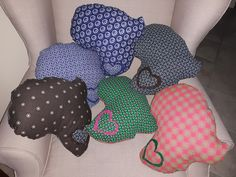 Collection of shweshwe Africa pillows