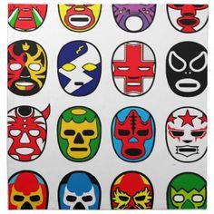 任意色彩豊かなLucha Libreのメキシコレスリングのマスクの多く。