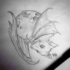 bat_moon_tattoo_design__by_georgiatheunicorn21-d8yfbwa.jpg (400×400)