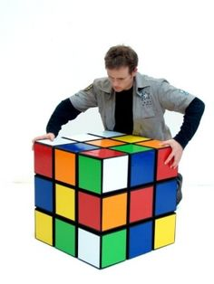 80s Party Ideas | 80s Themed Party Supplies & Decorations | Even Giant Rubik's Cube make ourself