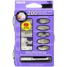 Nailene Nails Full Cover Short Square Includes 200 Nails Luxuriant In Design Nail Care, Manicure & Pedicure Health & Beauty