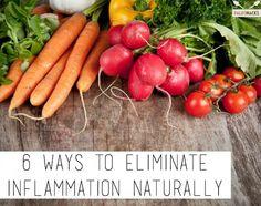 6 maneras de eliminar la inflamación Naturalmente