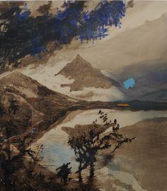Olivier Masmonteil, Le Paysage Effacé, 2012, Acrylic and oil on canvas, 180 x 160 cm, 5, Courtesy Galerie Dukan
