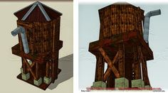 Papermau: Water Tank Paper Model In Several Scales - by Edifícios De Papel