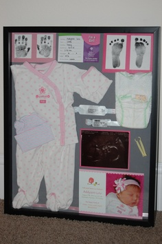 I cant believe how fast they grow! Baby Addys shadow box