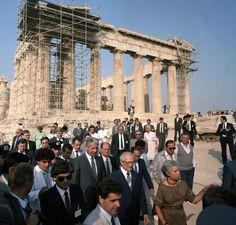 A state visit to Athens by GDR leader Erich Honecker in 1985