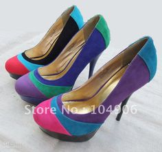 Wholesale Newest design dollhouse colorant match sexy stiletto multicolored high heels shoes drop ship pump sh, $32.69-40.11/Pair | DHgate
