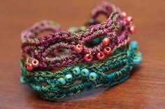 CROCHET PATTERN Crochet Bracelet Pattern Bead by thevelvetheart