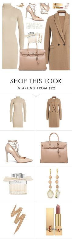 """""""Nude outfit"""" by nastenkakot ❤ liked on Polyvore featuring adidas Originals, Harris Wharf London, Valentino, Hermès, Chloé, Panacea, Urban Decay, Yves Saint Laurent and Kendra Scott"""