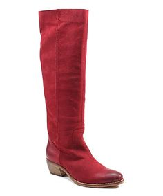 Another great find on #zulily! Red Pro Gress Leather Boot #zulilyfinds