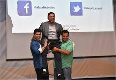 Malaysia - Country Head- India & Sri Lanka , HP (Hewlett Packard) lifts Akash up on his shoulders during Thanks giving!   #motivationalspeaker #malaysia #akashgautam #hp #thanksgiving #lovemywork #whatido