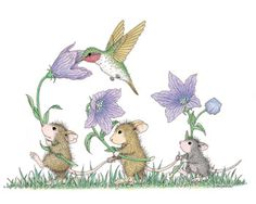 """A Spring Tail"" from House-Mouse Designs®.  This image was recently purchased on a rubber stamp. Click on the image to see it on a bunch of other really ""Mice"" products."