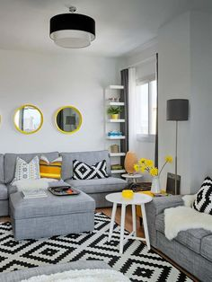 HOUSE TOUR: CHEERFUL COLOURS AND GEOMETRICAL PATTERNS