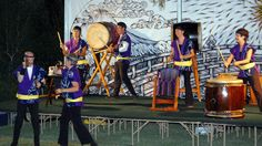 """October 19: The Otsukimi Moonviewing Festival 2013 at the Japanese Friendship Garden included Japanese music, performances and food in celebration of the full moon and an abundant fall harvest. The musician Ken Koshio performed for about 30 minutes. Although Koshio plays a variety of instruments and music, the biggest audience draw is the odaiko, which means """"big drum."""" The odaiko is made of cowhide and sits on its side while the musician stands in front to play it."""