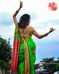 Kashta Saree, Marathi Saree, Indian Navel, Indian Beauty Saree, Indian Sarees, Nauvari Saree, India Culture, Beautiful Saree, India Beauty