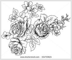 rose pattern black and white - Google Search
