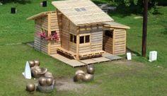 Gartenlaube Gartenhaus-selber bauen-Holz Paletten