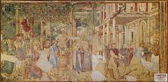 Benozzo Gozzoli, Noé's vintage and exuberance (1468-1484, fresco, Pisa, Camposanto)