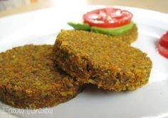 Raw nut veggie burgers