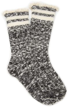 Heathered Crochet-Trim Socks from Forever Saved to Forever Shop more products from Forever 21 on Wanelo.