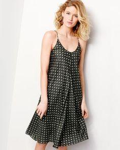 Eileen Fisher Silk Ikat Dot Dress
