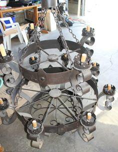 Hang In A Back Yard Pergola Wrought Iron Chandelier 2 Tier Bronze By Arte  De Mexico