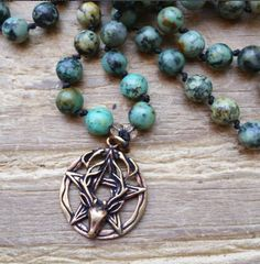 Celtic Stag, stag prayer beads, stag mala, stag rosary, celtic prayer beads…