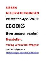 SIEBEN NEUERSCHEINUNGEN eBook-Nachschlagewerke Deutsch-Englisch Mechatronik Im Januar-April 2013