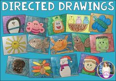 Directed Drawings for each month...parents would love this project!