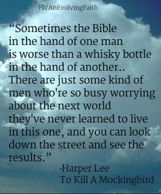 "Sometimes the bible.. -Harper Lee ""To Kill a Mockingbird"" www.facebook.com/AnEvolvingFaith"