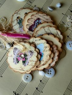 butterfly craft circles- great to have a stash of these made-up to stick on cards or tags