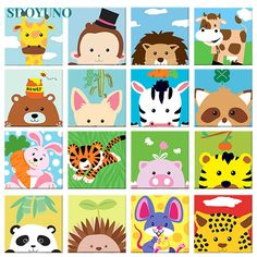 Numbers For Kids, Wall Art Pictures, Paint By Number, Art Wall Kids, Painting For Kids, Modern Wall Art, Pikachu, Unique Gifts, Cute Animals