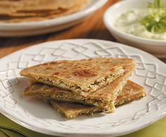 Cauliflower Paratha with Cucumber Raita