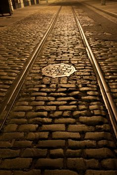 Cobble Stones and Trolley Tracks, Brooklyn Heights, Brooklyn, New York — Royce Bair (Undated)
