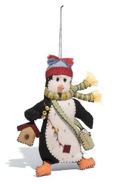 New World Arts 'Penguin with Bag' Ornament  $11