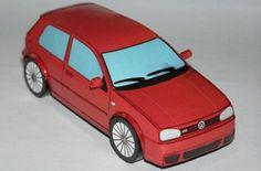 Volkswagen Golf R32 Paper Car - by Ľubomír Papánek