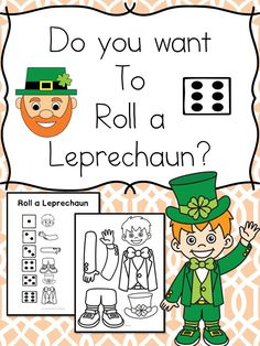 Do you want to roll a leprechaun? Free activity plus more St Patrick Day Kindergarten Worksheets too! patricks day kindergarten Free Roll a Leprechaun – St. Patrick's Day Kindergarten Worksheets Kindergarten Reading Activities, Kindergarten Lesson Plans, Kids Learning Activities, Kindergarten Worksheets, Preschool Activities, St Patricks Day Crafts For Kids, St Patrick's Day Crafts, St Patricks Day Spiele, St Patrick's Day Games