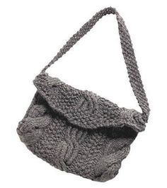 Ribbed Cable Purse