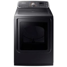 Samsung 7.4 cu. ft. Electric Dryer with Steam in Black Stainless Steel, ENERGY STAR DVE52M7750V at The Home Depot - Mobile