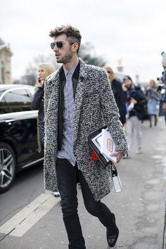 Sweater texture coat