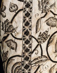 Waistcoat; England, Great Britain,1620-1625, linen embroidered with silk | V&A Collections