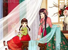 한복 hanbok, Korean traditional clothes #흑요석